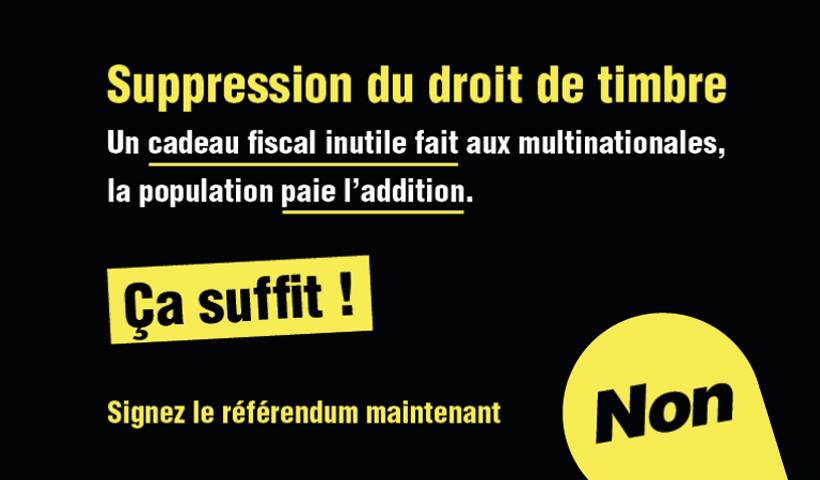 Référendum contre la suppression du droit de timbre